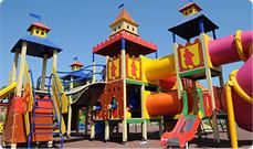 Детская площадка на территории турбазы